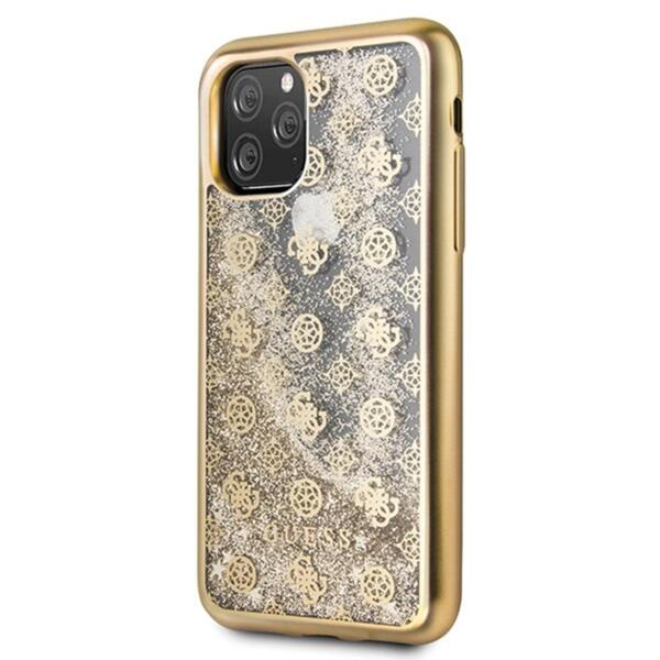 Guess 4G Peony Glitter Cover for iPhone 11 Pro Gold