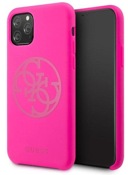 GUHCN58LS4GFU Guess 4G Tone on Tone Cover for iPhone 11 Pro Fuschia (EU Blister)