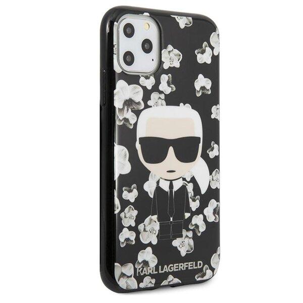 KLHCN58FLFBBK Karl Lagerfeld TPU Flower Cover for iPhone 11 Pro Black (EU Blister)