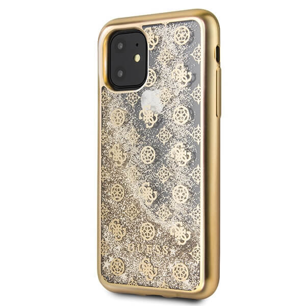 GUHCN61PEOLGG Guess 4G Peony Glitter Cover for iPhone 11 Gold (EU Blister)