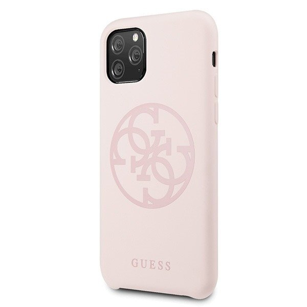 Guess 4G Tone on Tone Cover for iPhone 11 Light Pink