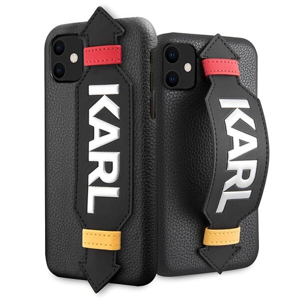 Karl Lagerfeld Strap Cover for iPhone 11 Black