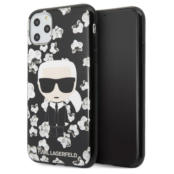 Karl Lagerfeld TPU Flower Cover for iPhone 11 Pro Max Black