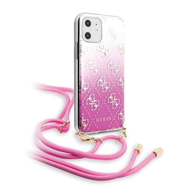 Guess 4G Gradient Cover for iPhone 11 Pink