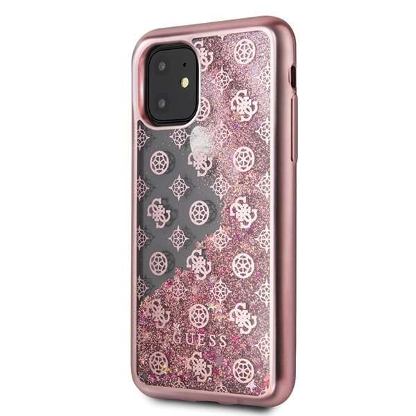 Guess 4G Peony Glitter Cover for iPhone 11 Rose