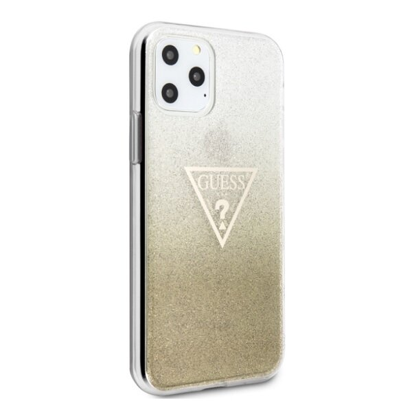 Guess Solid Glitter Cover for iPhone 11 Gold