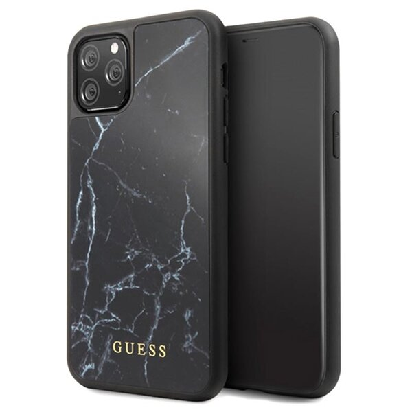 GUHCN58HYMABK Guess Marble Cover for iPhone 11 Pro Black (EU Blister)