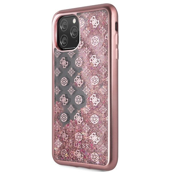 GUHCN65PEOLGP Guess 4G Peony Glitter Cover for iPhone 11 Pro Max Rose (EU Blister)