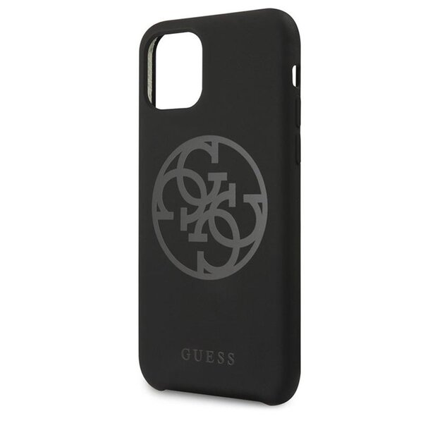 Guess 4G Tone on Tone Cover for iPhone 11 Pro Max Black