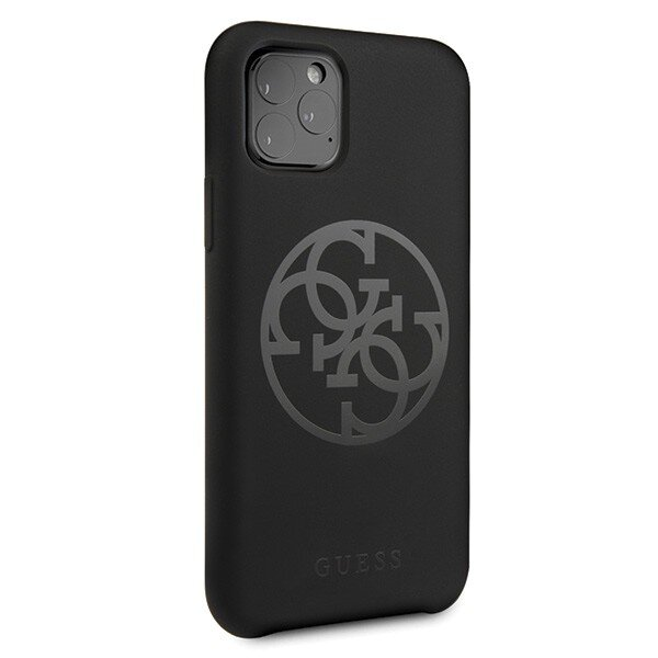 Guess 4G Tone on Tone Cover for iPhone 11 Pro Black