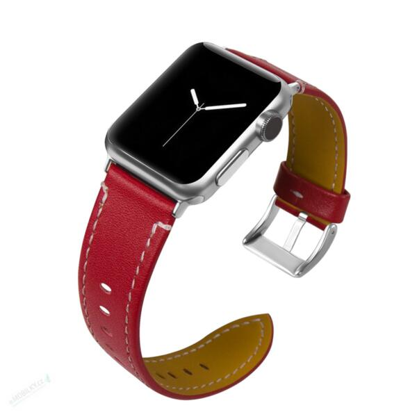 Tactical 021 Color Leather Band for iWatch 1/2/3 38mm Red