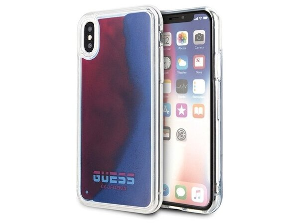 Guess Glow in The Dark PC/TPU Kryt pro iPhone X/XS Sand/Red (EU Blister)
