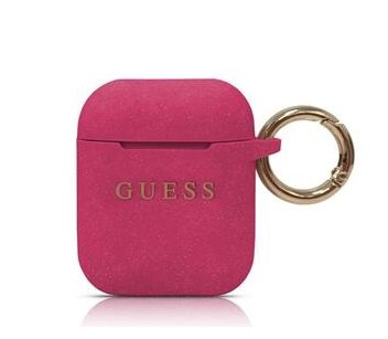 Guess Silicone Cover for Airpods Fuchsia