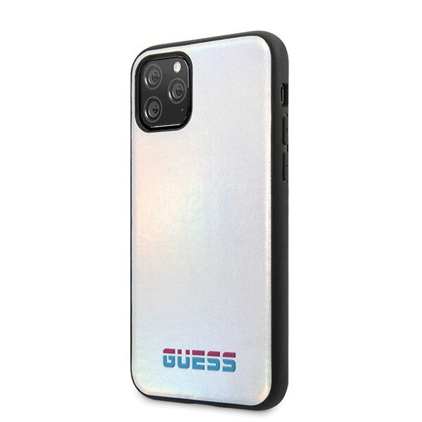 Guess Iridescent Cover for iPhone 11 Pro Silver