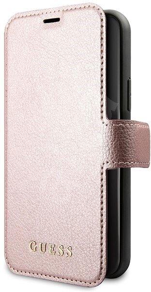 Guess Iridescent Book Pouzdro pro iPhone 11 Pro Max Black/Rose