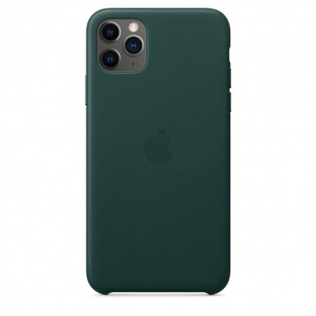 Apple iPhone 11 Pro Max Leather Case - Forest Green (Seasonal Autumn 2019)