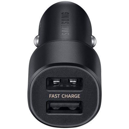 Зарядно 12v Samsung Fast Car Charger EP-L1100NB 2A-2xUSB OR черно