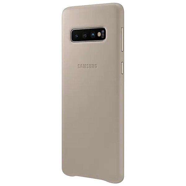 Кожен калъф от Samsung за Galaxy S10 - Grey