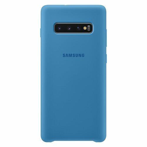 Силиконов калъф от Samsung за Galaxy S10 Plus - Blue