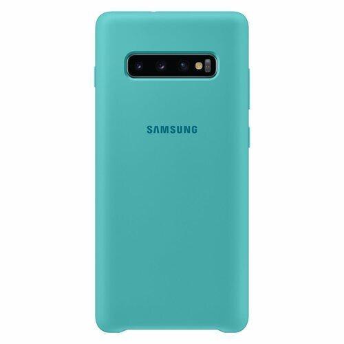 Силиконов калъф от Samsung за Galaxy S10 Plus - Green