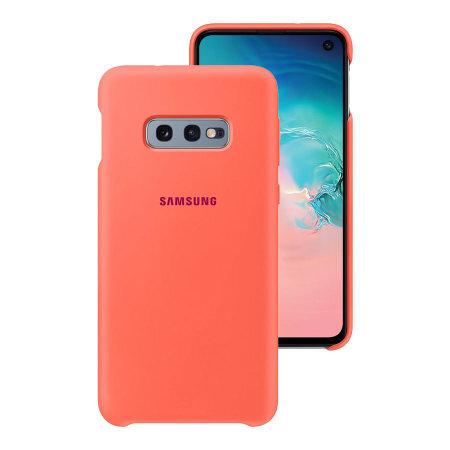 Силиконов калъф от Samsung за Galaxy S10e - Berry Pink