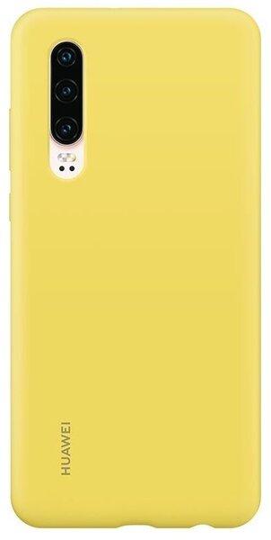 Оригинален гръб Huawei P30 Silicone Car Case (yellow)