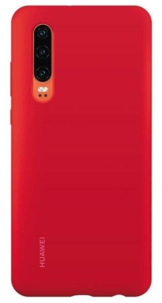 Оригинален гръб Huawei P30 Silicone Car Case Red