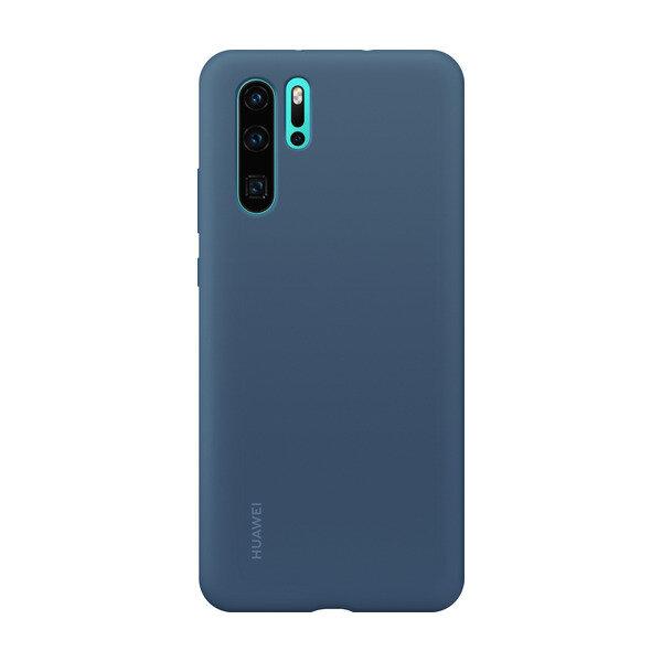 Оригинален гръб Huawei P30 Pro Silicone Car Case Blue