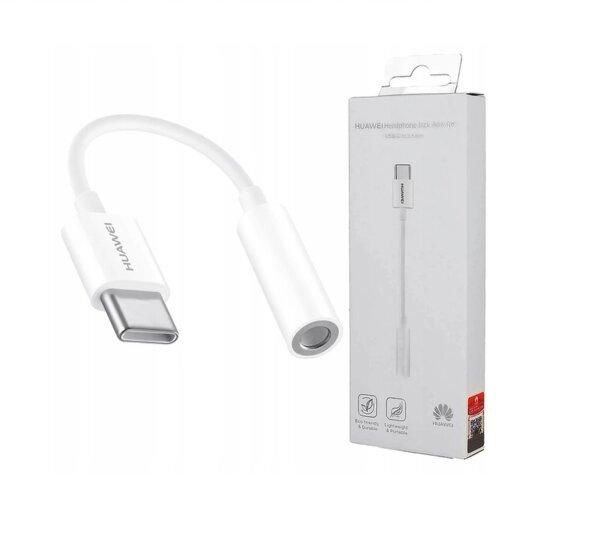Адаптер HUAWEI USB Type-C към 3.5мм жак бял