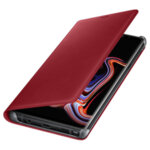 Samsung Leather Wallet Cover for Galaxy Note 9 - Red