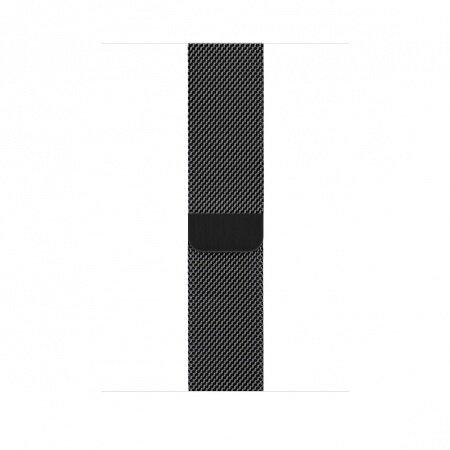 Apple Watch 44mm Band Space Black Milanese Loop