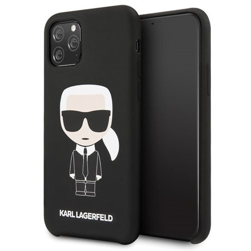 Karl Lagerfeld Iconic Silicone Cover for iPhone 11 Pro Black (EU Blister)