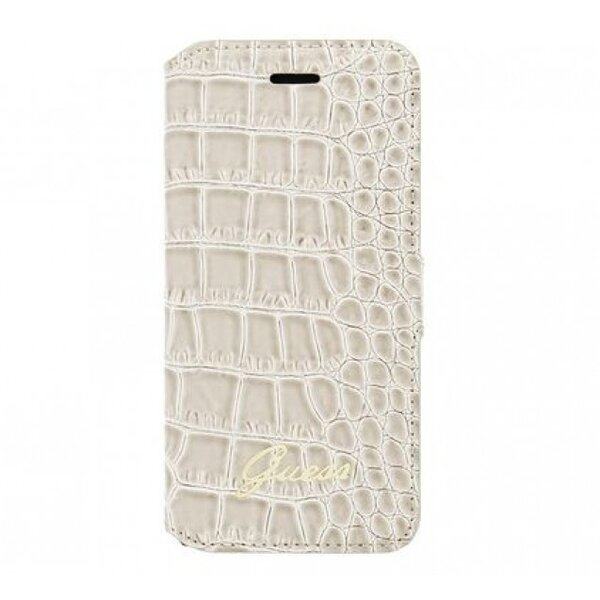 Guess Shiny Croco Book  for iPhone 6/6S Case Beige
