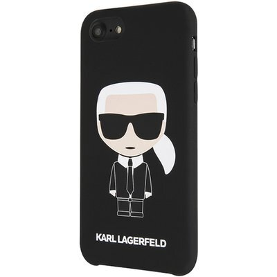 Karl Lagerfeld Full Body Silicone Case for iPhone 8/SE2 Black