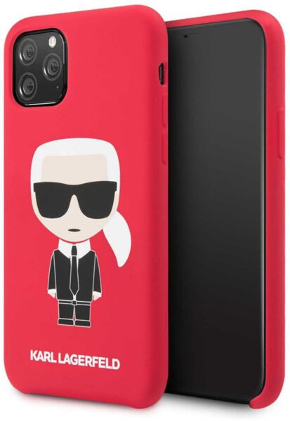 Karl Lagerfeld Iconic Body Cover for iPhone 11 Pro Red