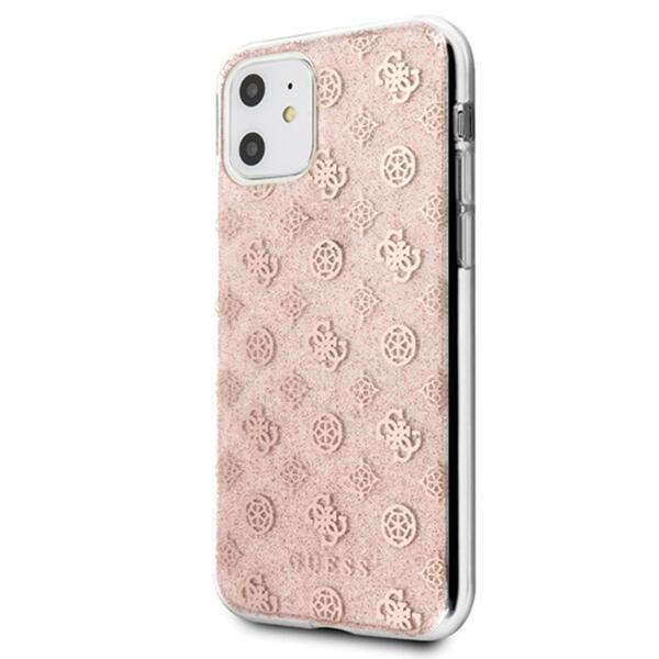 Guess Peony Glitter Cover for iPhone 11 Pink