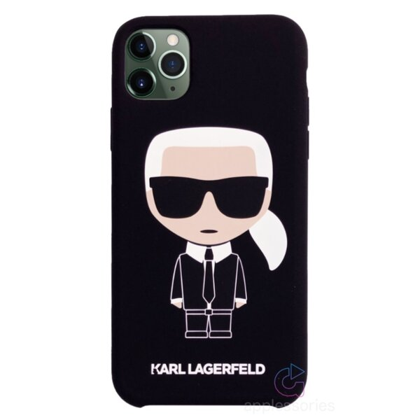 Karl Lagerfeld Iconic Silicone Cover for iPhone 11 Pro Max Black (EU Blister)