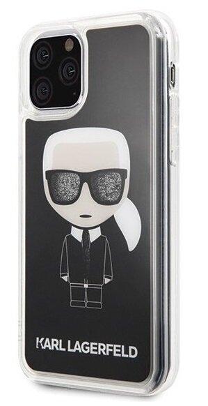 Karl Lagerfeld Case hardcase iPhone 11 Pro Max KLHCN65ICGBK black Iconic Glitter