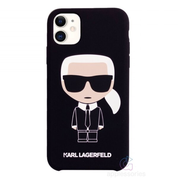 Karl Lagerfeld Iconic Silicone Cover for iPhone 11 Black