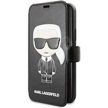 Karl Lagerfeld Ikonik Book Case for iPhone 11 Black
