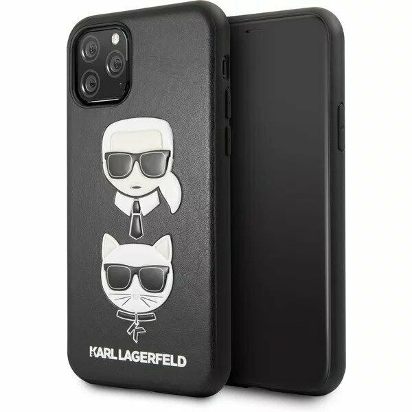 Karl Lagerfeld  Choupette Cover for iPhone 11 Black