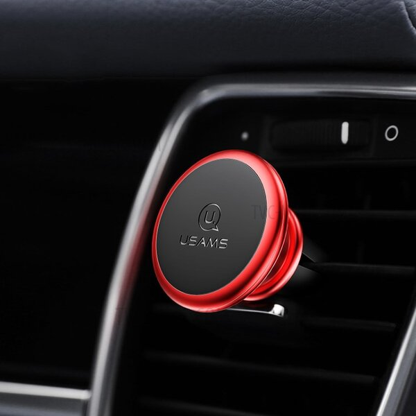 Magnetic Air Vent Car Holder Red