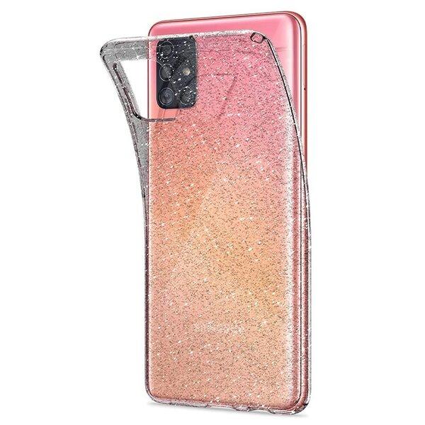 Калъф от Spigen Liquid Crystal за Galaxy A51 Glitter Crystal Quartz