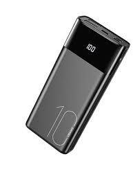 USAMS Dual USB Power Bank 10000mAh Black