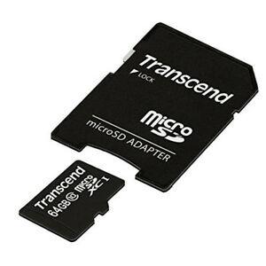 Памет - Transcend 64GB microSDXC UHS-I, 300x (with adapter, Class 10)