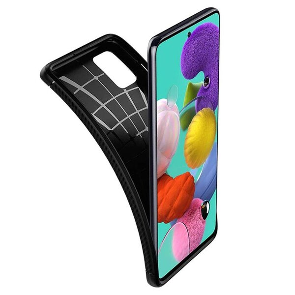 Калъф Spigen Rugged Armor Galaxy A51 Matte Black