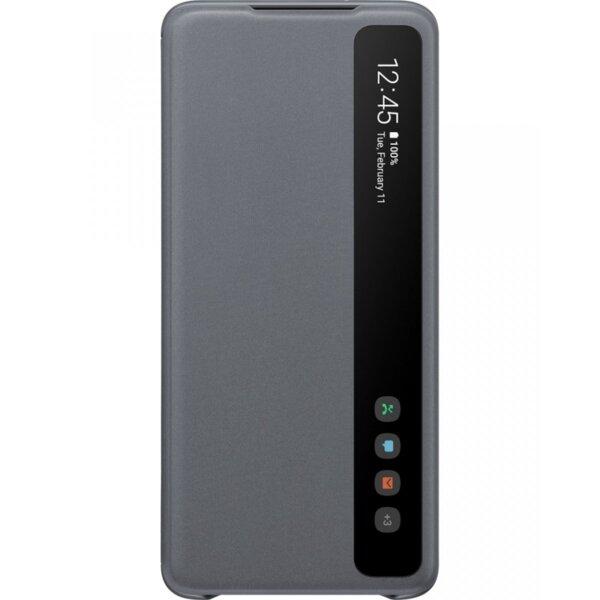 EF-ZG985CJE Samsung Clear S-View Pouzdro pro Galaxy S20+ Gray (EU Blister)