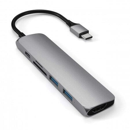 Адаптор Satechi TYPE-C Slim Multimedia Adapter V2 - Space gray