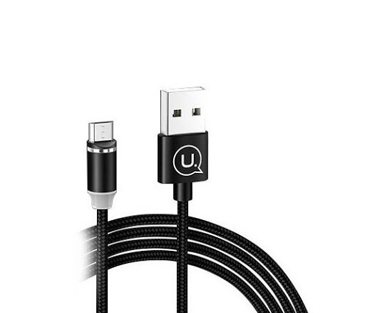USAMS SJ294 U-Sure Magnetic Charging Cable microUSB Black (EU Blister)