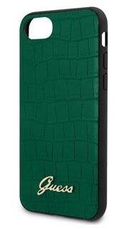 GUHCI8PCUMLCRDG Guess Croco Cover for iPhone 8/SE2020 Green (EU Blister)